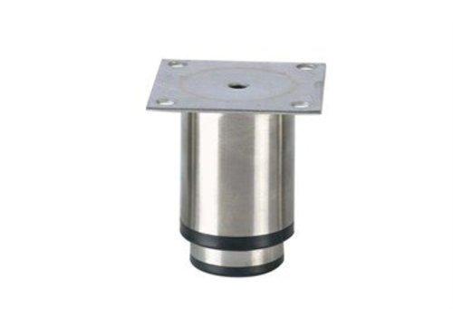 HorecaTraders Stainless steel adjustable legs hospitality line   90 x 90 x 90 mm