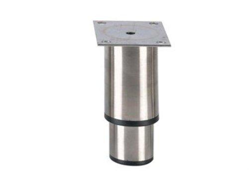 HorecaTraders Stainless steel adjustable legs hospitality line   145 x 100 x 80 mm
