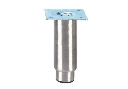 HorecaTraders Stainless steel adjustable legs ink   150 x 89 x 89 mm
