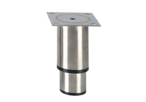 HorecaTraders Stainless steel adjustable legs hospitality line   145 x 90 x 90 mm