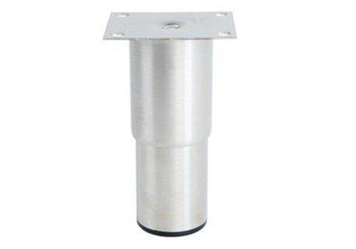 HorecaTraders Stainless steel adjustable legs hospitality line   100 x 80 x 210 mm