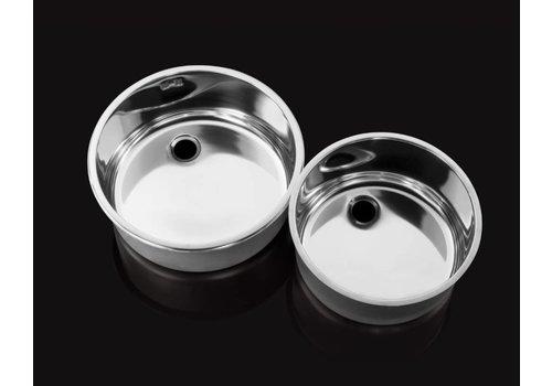Combisteel Runde Edelstahl-Spülen | 30 x18cm