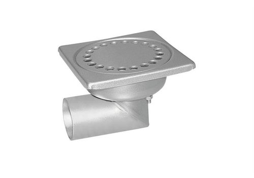 HorecaTraders Stainless steel Floor Drain 100 x 100 mm Lateral Drain 40 mm