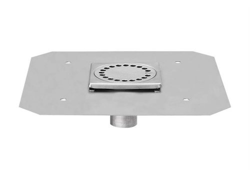 HorecaTraders RVS Vloerafvoerput 100 x 100 mm Telescopische Afvoer 40 mm