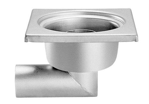 HorecaTraders Stainless steel Floor Drain 200 x 200 mm side Drain 63 mm