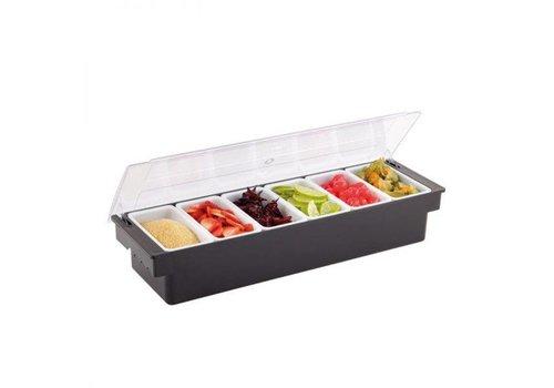 HorecaTraders Ingredientenbak | 6 uitnembare trays