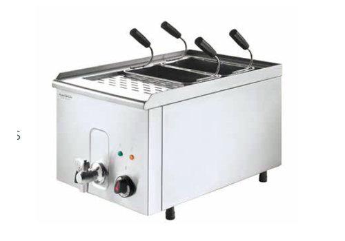 HorecaTraders Nudelkocher mit 4 Körben 400 V / 4,5 kW