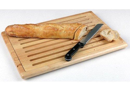 HorecaTraders Holz Schneidebrett aus Gummi | 3 Dimensionen