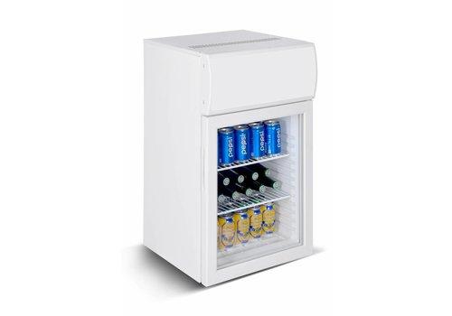 HorecaTraders Kleiner Kühlschrank mit Lightbox + 2 / + 10