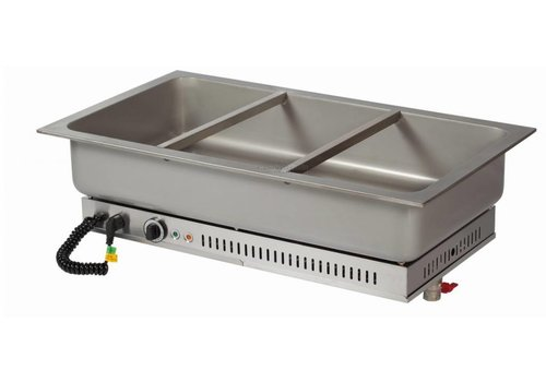 Combisteel Built-in bain marie unit stainless steel | 3/1 GN