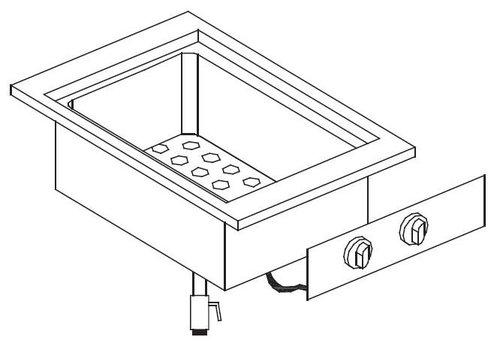 Combisteel Inbouw bain-marie element | 1/2 + 1/4 GN