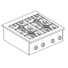 Combisteel Recessed stainless steel gas cooking unit   4 burner