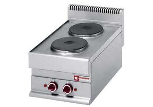 Diamond Built-in electric stove 2 round cooking plates