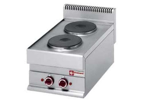 Diamond Inbouw Elektrisch fornuis 2 ronde kookplaten
