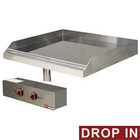 Diamond Built-in electric frying plate with chromed flat plate