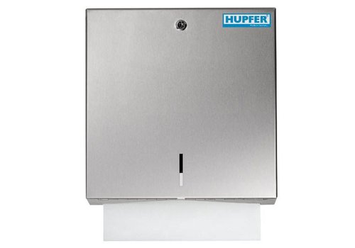Hupfer Stainless steel towel dispenser with lock | 500 sheets
