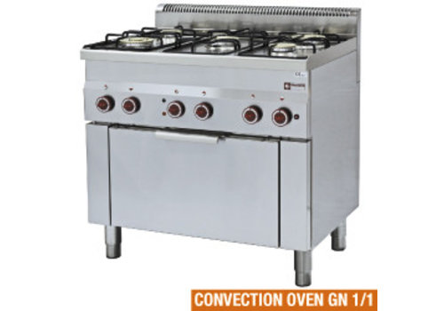 Diamond Gas cooker 5 burners and electric convection oven