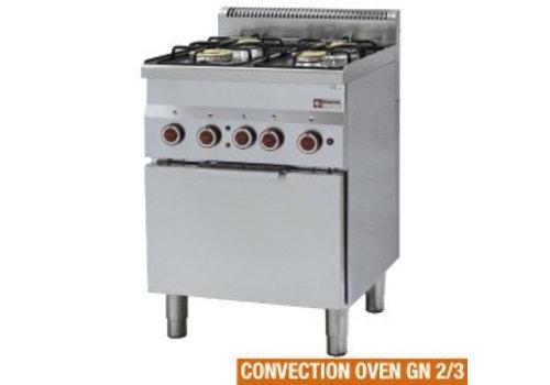 Diamond Gasfornuis 4 Branders 3,3 en 3,6kW met elektrische oven
