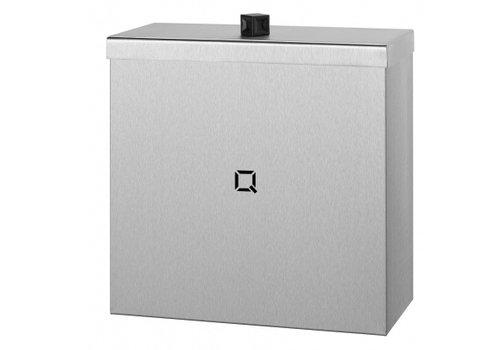 HorecaTraders Abfallbehälter aus Edelstahl 9 Liter | vandalensicher