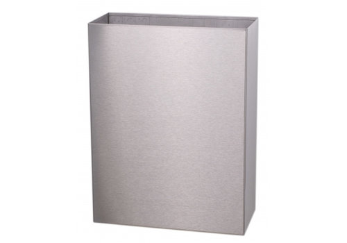 HorecaTraders Stainless Steel Waste Bin Open Model 25 L