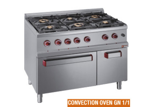 Diamond Gas cooker with electric convection oven | 6 burners