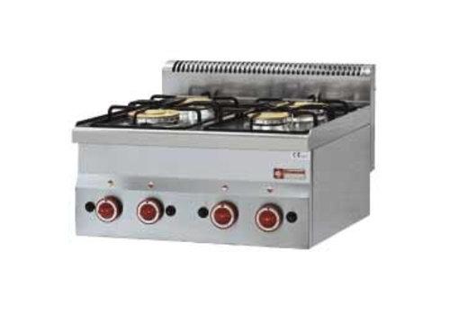 Diamond Gas cooker | 4 burners 2 x 3300 / 3600Watt