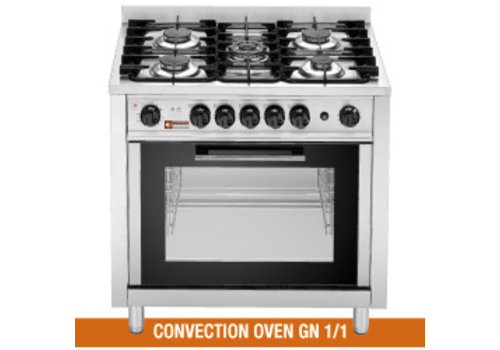 Diamond Gas cooker with electric convection oven | 5 burners