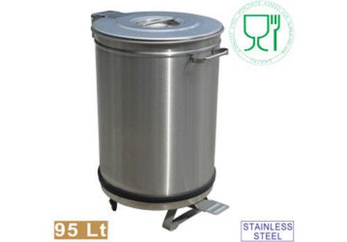 Diamond Stainless steel Waterproof Dustbin with Pedal | Ø 46 cm