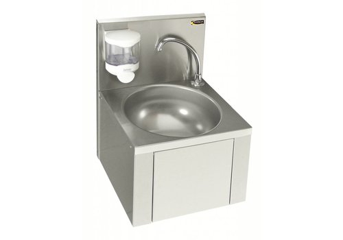 Sofinor Stainless Steel Washbasin With Knee & Crane And Soap Dispenser