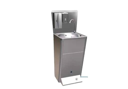 Sofinor Stainless Steel Basin With Foot Control & Waste Bin and Soap Dispenser