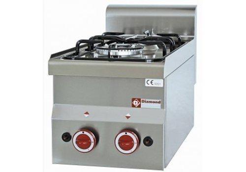 Diamond Gas cooker | 2 burners 3300 / 3600Watt