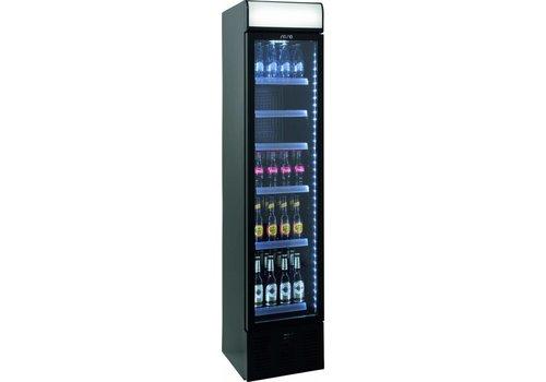 Saro Schmale Flaschen Kühlschrank mit Glastür | 40 cm Breite
