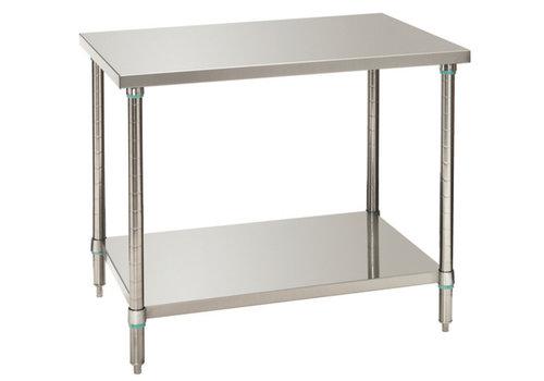 Bartscher Werktafels met onderschap 100x70x86-90 cm