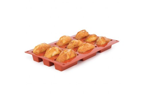 HorecaTraders Formaflex siliconen gebakvorm | 9 mini cakes