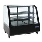 Polar Cooling display - Table showcase - black 102 liters