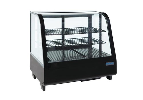 Polar Cooling display - Table showcase - black 102 liters