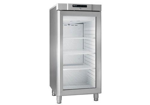 Gram Kompakter Kühlschrank aus Edelstahl mit Glastür 218 Liter