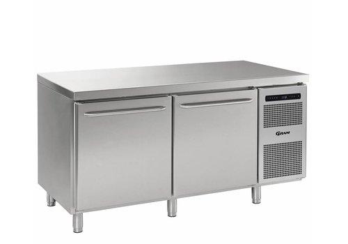 Gram Gram Gastro Freezer Workbench with 2 doors   2 / 1GN   586 Liter