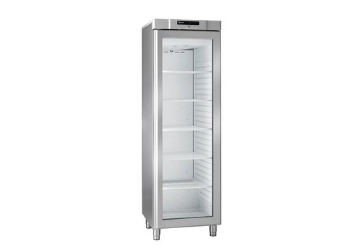Gram Compact stainless steel refrigerator with glass door | 346 liters