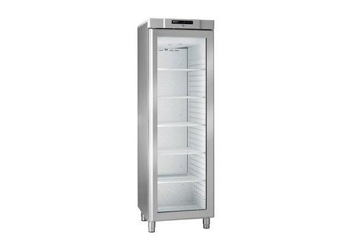 Gram Kompakter Kühlschrank aus Edelstahl mit Glastür 346 Liter