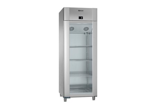 Gram RVS koelkast met glazen deur 2/1GN | 614 liter
