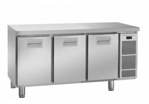 Gram Gram snowflake refrigerated workbench 3 doors | 364 liters