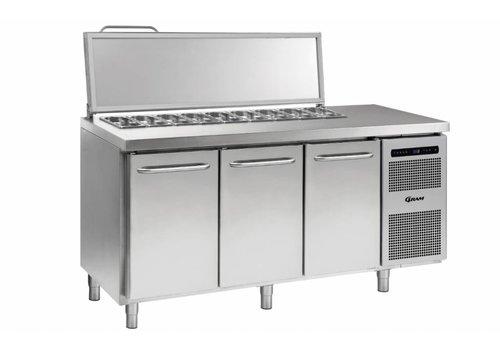 Gram Gram Stainless Steel saladette 3 door | 7x 1/3 GN | 506liter