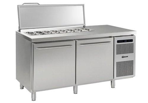 Gram Gram Stainless Steel saladette 2 door | 2x 1/1 GN | 586liter