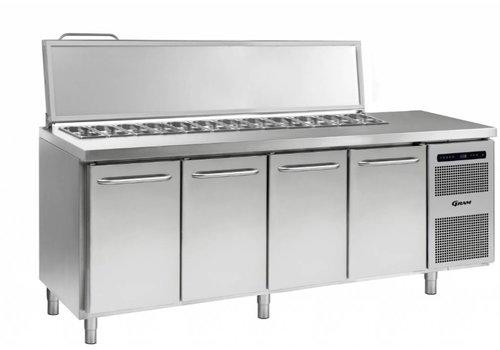 Gram Gram Stainless Steel saladette 4 door | 9x 1/3 GN | 668liter