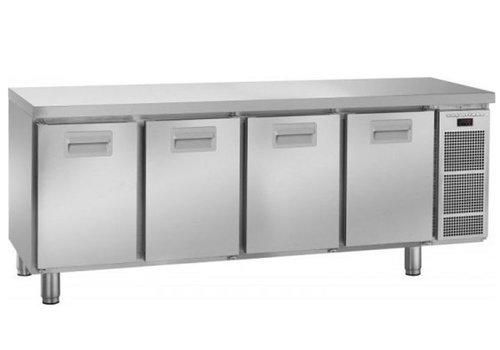 Gram Gram Schneeflocke gekühlte Werkbank 4 Türen | 495 Liter