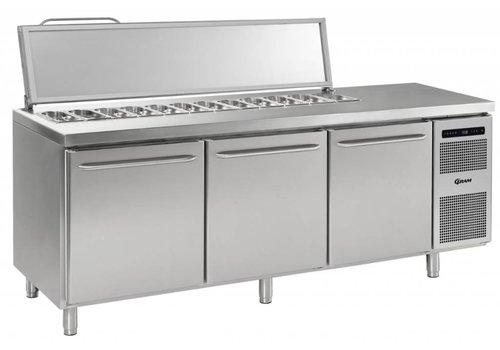 Gram Gram Stainless Steel saladette3 door | 3x 1/1 GN | 865liter