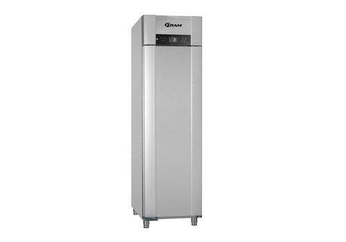 Gram Stainless steel / vario silver depth cooling single door | 465 liters