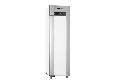 Gram Stainless steel deep cooling single doors white   465 liters