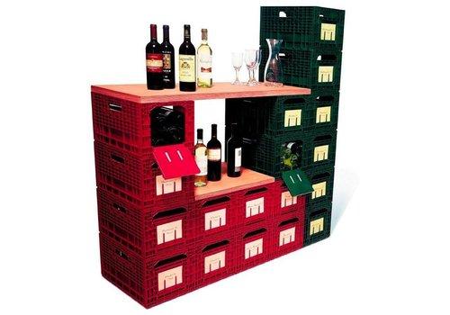 HorecaTraders Wein Aufbewahrungsbox Wouter   rot